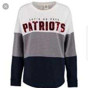 Vs pink New England Patriots sweatshirt